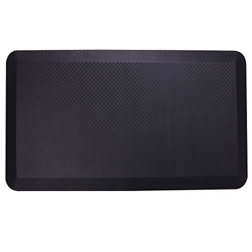 Flexispot Anti-Fatigue Non-Slip Comfort Kitchen Floor Mat Standing Desk Mat (32 x 20 Black)