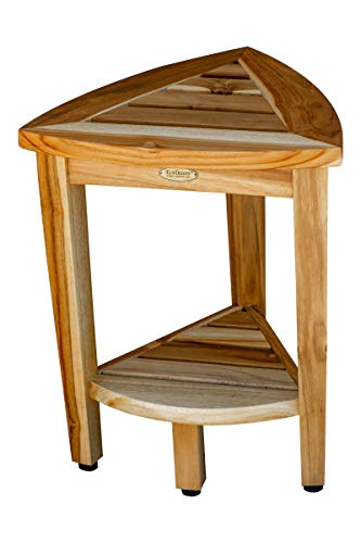 EcoDecors Oasis Shower Stool, Natural