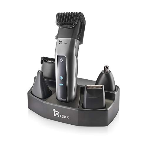 SYSKA HT3052K/02 Corded   Cordless Ultragroom Pro Styling Kit Runtime: 50 Min Trimmer for Men  Silver Black