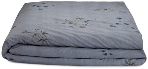 Calvin Klein Home Bamboo Flower Full/Queen Duvet Cover, Hyacinth