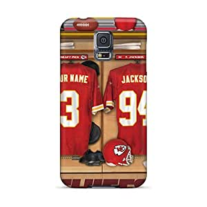 FCKLocation Fashion Protective Kansas City Chiefs Uniform Case Cover For Galaxy S5