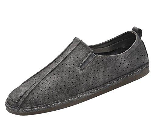 Bininbox Mens Slip-on Loafers Tillfälliga Båt Skor Kör Sneaker Ombord Sport Atletisk Kör Retro Grå