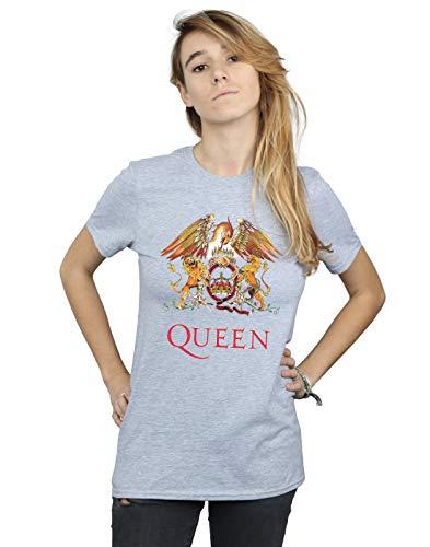con de Fit gris Queen Cult deportiva logo Absolute Crest Boyfriend Camiseta Woman wqP0vq