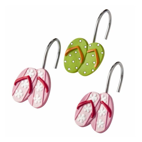 Hanging Loose Shower Hooks White
