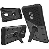 Chevron Moto G Play 4th Gen (Motorola Moto G4 Play) Back Cover - Galaxy Black [Sniper 360° Rotate Stand Version 3.0 Ultimate Warrior Case] [Air Cushion Technology - Shock Proof] [Dual Layer Impact Protection Kick Stand] For Moto G Play 4th Gen (Motorola Moto G4 Play)