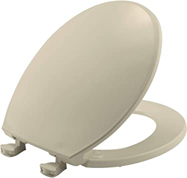 BEMIS 800EC 006 Plastic Toilet Seat with Easy Clean & Change