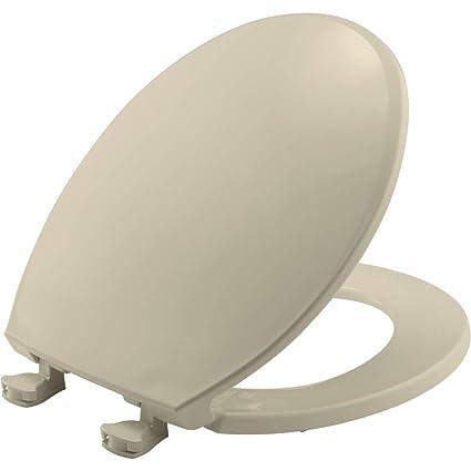 Marvelous Bemis 800Ec 006 Toilet Seat With Easy Clean Change Hinges Round Bone Evergreenethics Interior Chair Design Evergreenethicsorg