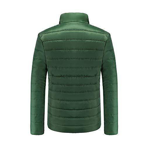 Stand Zip Hiver Outwear Armée Garçons Slim Roiper Verte Hommes Veste Chaud Col Coat qxBF0tZw