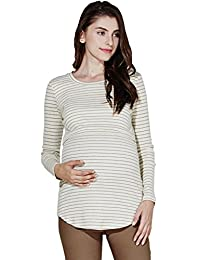 Sweet Mommy Maternity and Nursing Cotton Long Sleeve Tee Shirt
