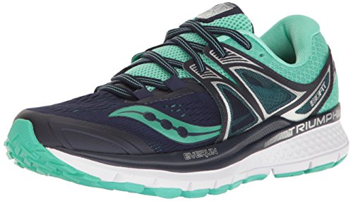Saucony Women's Triumph Iso 3 Running-Shoes, Navy/Blue, 7.5 B(M) - Deal 3 Warehouse