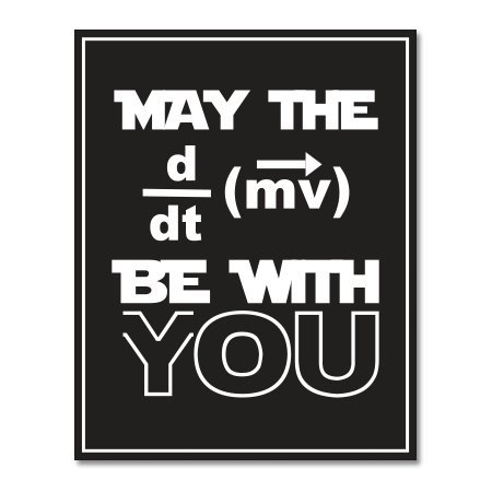 Carframes18 May The Force be with You Funny Physics Vinyl Sticker - Car Window Bumper Laptop Bumper Sticker Decal