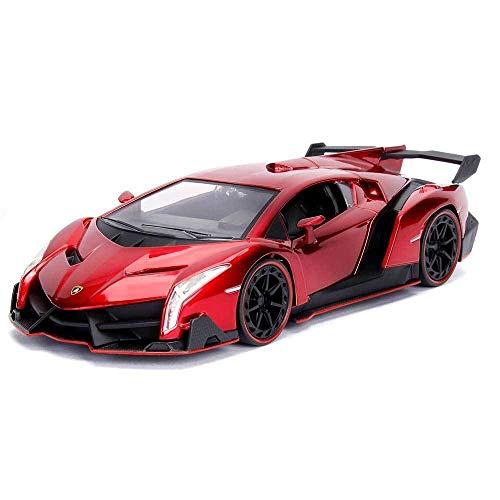 Jada 1: 24 Hyper-Spec - Lamborghini Veneno (Candy Red) (Lamborghini Veneno Model)