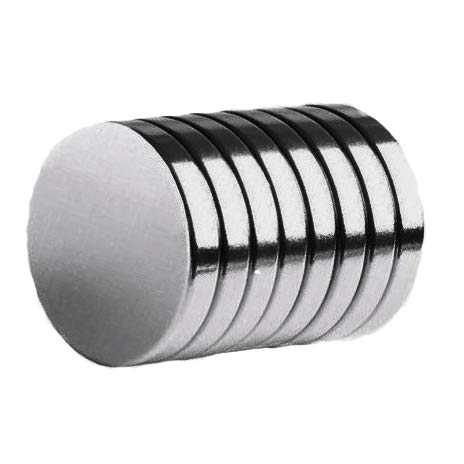 Earth Rare Magnets 0.125 - ONIZZBAND 8Pcs Silver 3/4 x 1/8 Neodymium Rare Earth Disc Magnets N52