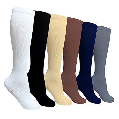 - SOOVERKI 6/8 Pack Compression Socks Women Men -Best Medical,Running,Travel,Nurse Socks (Assorted5, Large/X-Large)