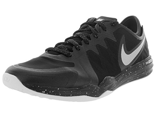 Nike Dual Fusion TR 3 Print - Zapatillas de Cross Training para Mujer, Color Negro/Gris/Blanco, Talla 38 Negro (Black / Mtllc Slvr Anthrct White)