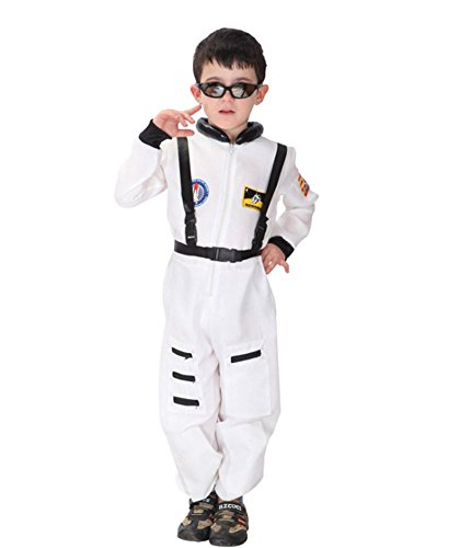 Kalanman Children Boys Halloween Dress Up & Role Play Costume Medieval Prince King Warrior Outfit (XL(Fit for 10-12 Age), Spaceman -