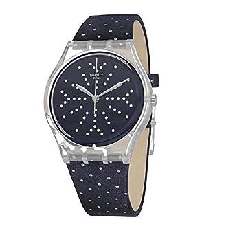 Swatch GE262 - Reloj analógico de Cuarzo con Correa de Tela para Mujer: Amazon.es: Relojes