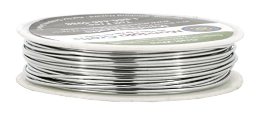 Mandala Crafts 18 20 22 24 26 28 Gauge Thick Solid Copper Wire for Beading Wrapping Jewelry Making (18 Gauge 9M, Silver)