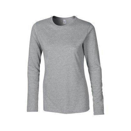 Gildan- Camiseta básica de manga larga suave para chica negro