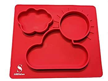 SiliDishes Silicone Sunshine Placemat Tray (Red)