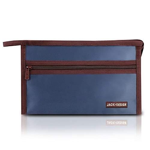 Necessaire Envelope Essencial Iii Poliéster Azul Escuro - Jacki Design