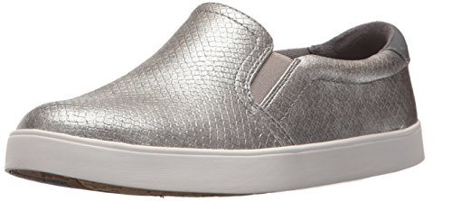 Dr. Scholl's Shoes Women's Madison Fashion Sneaker, Grey Pearlized Embossed Snake Print