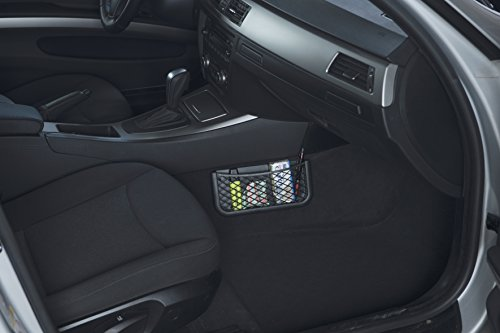 41qC%2BMQoJnL HR Universal Auto Ablagenetz 25cm - Netz Tasche zum Verstauen und Sortieren im Fahrerraum - Schwarzes Ablagefach aus…