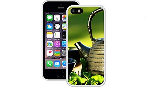 Teekanne   Handgefertigt   iPhone 5 5s SE   Weiß TPU Hülle