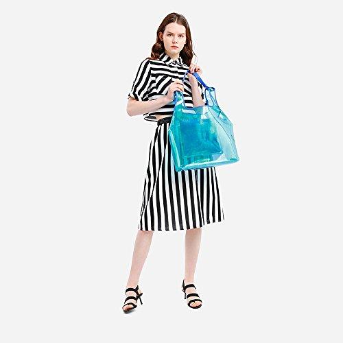 YQQ Mme Confortable De Fille Sexy 5 Dame Talons 5 Couleur Femme Mode Printemps taille Talon Sandales Chaussures CM Hauts Uk3 Noir Des Été EU35 Moyen Noir wFawCAqr