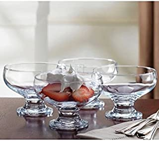 Home Essentials 4 Piece Set Essentials Home Footed Glass Dessert Dishes Bowls, Clear (B000NSGZ58) | Amazon price tracker / tracking, Amazon price history charts, Amazon price watches, Amazon price drop alerts