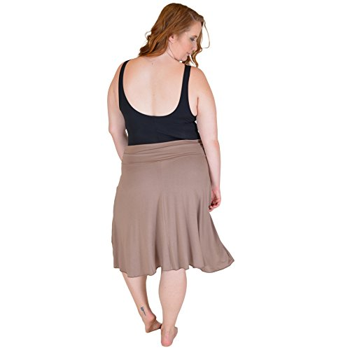 f2016b69a0 Stretch is Comfort Women's Plus Size Knee Length Flowy Skirt ...