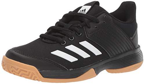 adidas Unisex Ligra 6 Volleyball Shoe, Black/White/Gum, 4.5 M US Big Kid