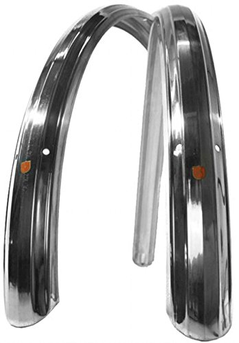 Velo Orange Zeppelin fenders 650b, 52mm - silver - FE-0059 by Velo Orange