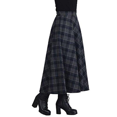 Vintage Wool Plaid Skirt - 6