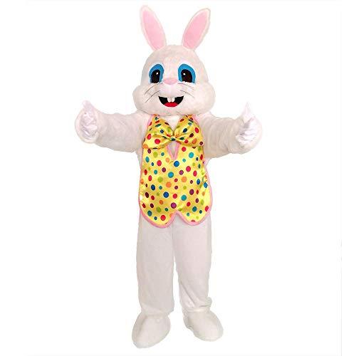 Yellow Vest Adult Easter Bunny Costume Plush Rabbit Bunny Costume]()