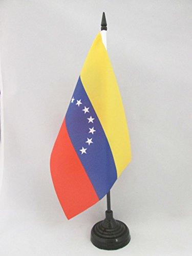 flaggen AZ FLAG TISCHFLAGGE Venezuela OHNE WAPPENSCHILD 21x14cm Venezuela TISCHFAHNE 14 x 21 cm