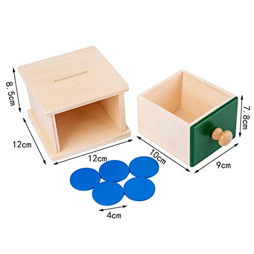 Montessori Object Permanence Box with Drawer for Babies, Montessori Ball Drop Imbucare Box Educational Learning Materials, Birthday Gift Toys