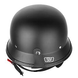 Iglobalbuy DOT Approved German Half Helmet Choooer Cruiser Custom Adult Motorcycle (L)