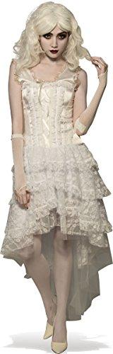 Rubie's Costume Co. Women's Goth Costume Gown, White, (White Goth Dress)