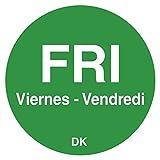 DayMark 1100595 DuraMark Trilingual 3/4 Friday Day Circle - 2000/RL