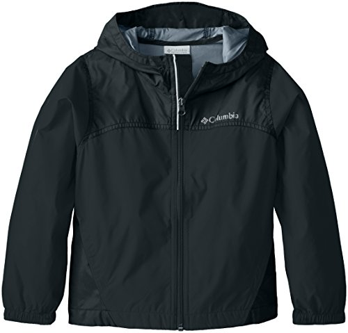 Columbia Big Boys' Glennaker Rain Jacket, Black, Medium