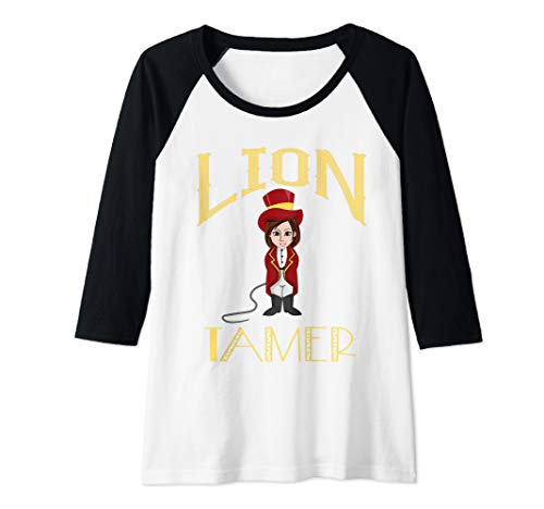 Womens Circus Lion Tamer Girls Costume - Female Lion Tamer  Raglan Baseball Tee]()