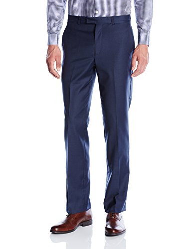 Kenneth Cole New York Men's Performance Wool Suit Separate Pant (Blazer and Pant), Blue, 30W x 30L