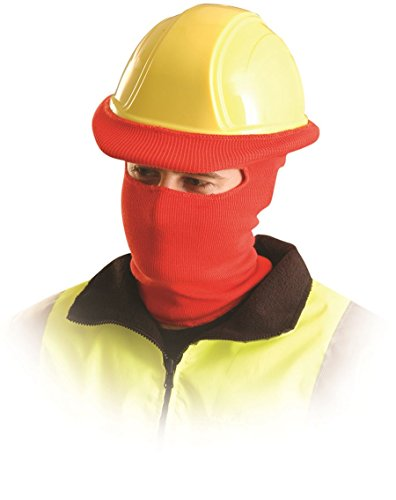 Full Face Knitted Tube Hard Hat Liner HiVis Orange, #LK810 by Occunomix