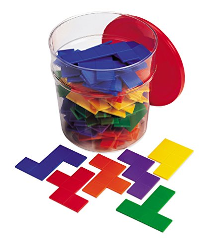 Learning Resources Rainbow Premier Pentominoes (Pentominoes Set)