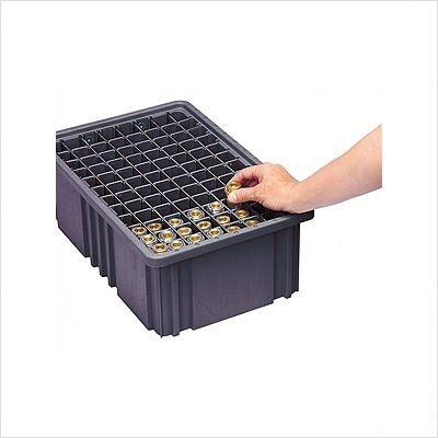 Conductive Dividable Grid Storage Container Short Dividers for DG93080CO [Set of 6] by Quantum Storage Systems