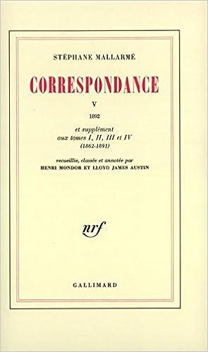 En ligne téléchargement gratuit Correspondance, tome 5 pdf