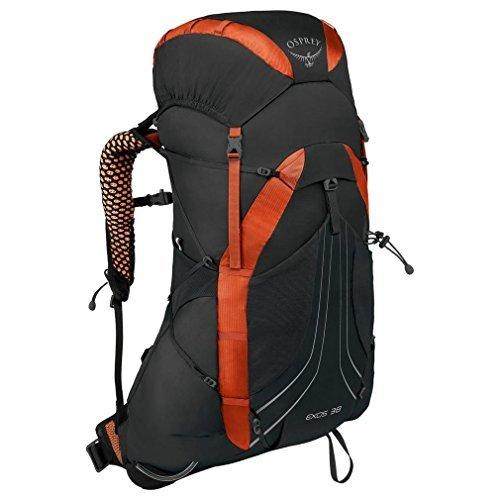 Osprey [並行輸入品] 38 Large Hiking Black Exos Backpack Blaze B07DVCR855