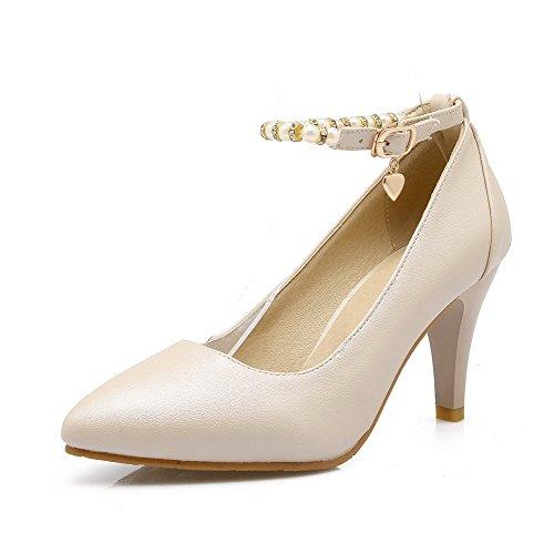 Couleur Chaussures Boucle Stylet Pointu Femme L Agoolar Unie xfn4PIq