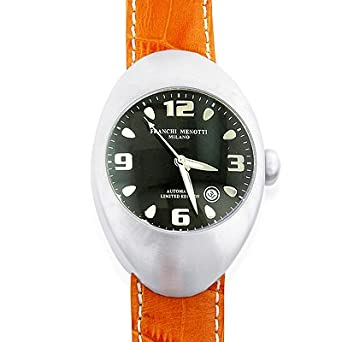 "Franchi Menotti Unisex ""9000 Series"" Stainless Steel Automatic w/Leather ..."
